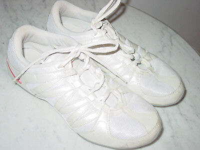 3fc0bff75db 2008 Womens Nike Musique IV White Pink Cheer Dance Fitness Shoes! Size 9 for