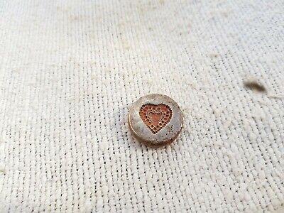Old Original Beautiful Heart Design Bell Metal Bronze Jewellery Stamp Dye (CH)