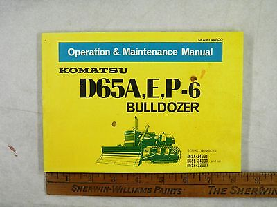 KOMATSU  D65A,E,P-6 OPERATION & MAINTENANCE MANUAL 34001