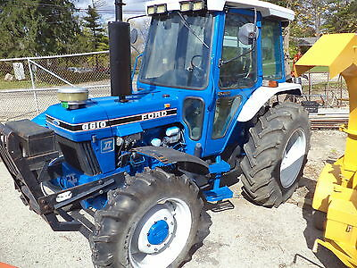 Ford 6610 Tractor Diesel 4x4 Drive Cab Air Pto Three Point Hitch