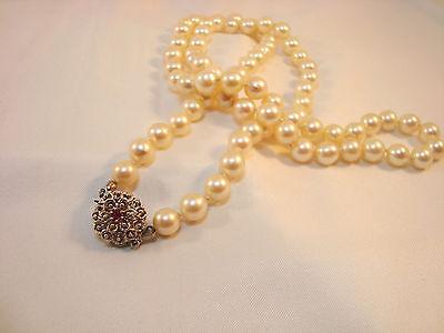 70,1 cm Perlenkette Perlen Collier 585 Weißgoldschließe Gold / AS 985