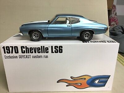 CHEVELLE ASTRO BLUE  200 PC 1970 CHEVROLET SS 454 LS6 METAL 1-18 GUYCAST - ACME