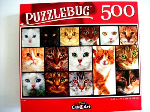 New Puzzlebug 500 Piece Jigsaw Puzzle (Cats)