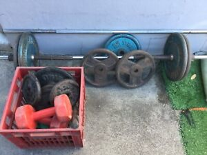 Weights and barbell x2