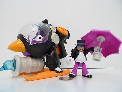 Fisher Price IMAGINEXT BATMAN Penguin Copter Helicopter W/ Figure & Umbrella !!!