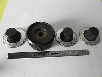 Lot Mismatch Optical Microscope Part Knob Zeiss Germany Optics Binc8-08
