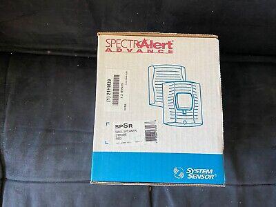 Nib New System Sensor Spsr Fire Alarm Speakerstrobe Wall Red