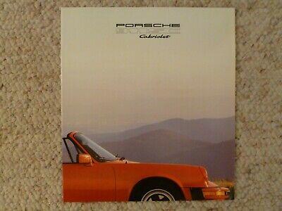 1983 Porsche 911SC Cabriolet Showroom Sales Brochure RARE!!! Awesome L@@K
