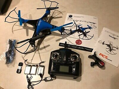 ZeroGravity Talon RC Drone Quadcopter w/HD WiFi Camera, Controller-full kit-BLUE