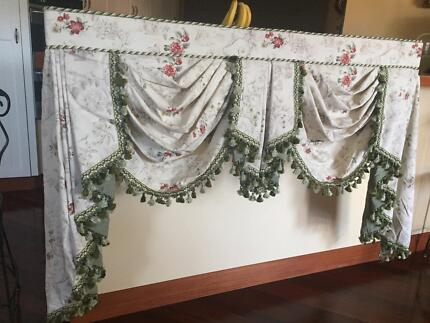 Swags and Tails & Pelmets Curtains in Great condition | Curtains ...