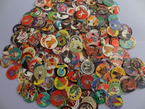 Pogs  * 1000 Miscellaneous Variety with 20 slammers, 3 Tubes