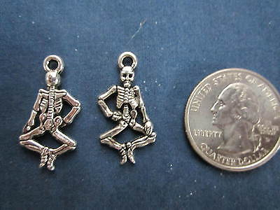 wholesale lot 75 skeleton halloween charms make pendant, earrings bracelet - Halloween Charms Wholesale