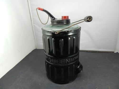 1878 QUEEN Glass & Steel KEROSENE CAN for filling Lamps Stoves and Lanterns