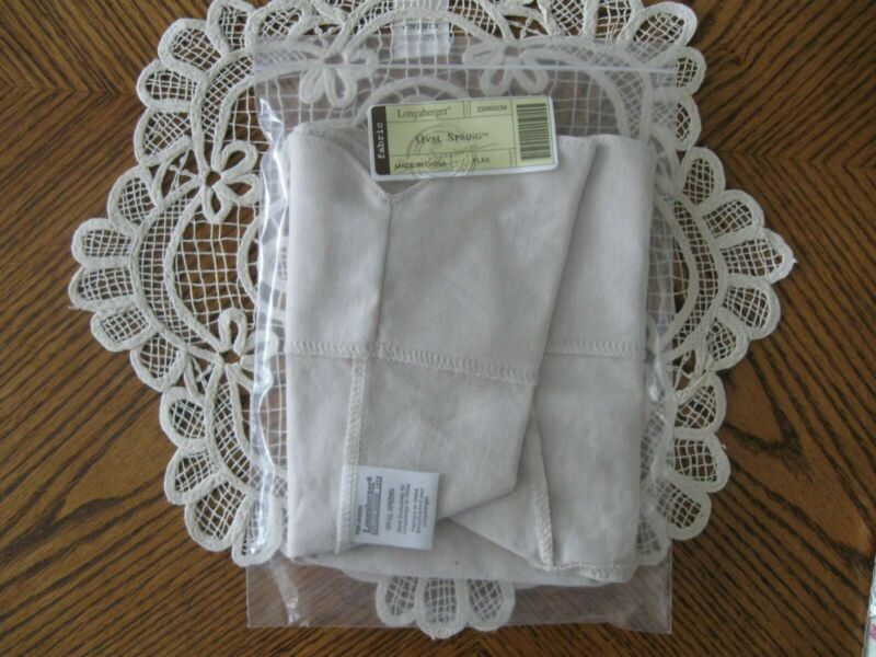 LONGABERGER FLAX OVAL SPRING BASKET LINER - NEW IN PACKAGE!!!