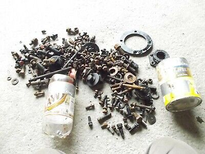 Farmall M Ih Tractor Box Of Misc Bolts Nuts Parts Pieces Assortment