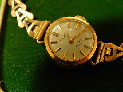 Vintage 9ct Yellow Gold Chateau Wristwatch Watch 17Jewel 11h 25