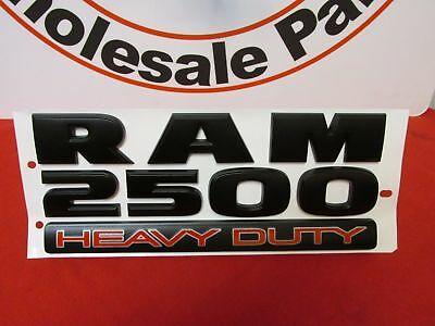 Dodge Ram Matte Black 2500 Heavy Duty Door Emblem NEW OEM MOPAR