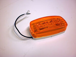 2-x-4-Amber-4-LED-Bargman-Marker-Clearance-Light-47-58-032-RV-Trailer-58