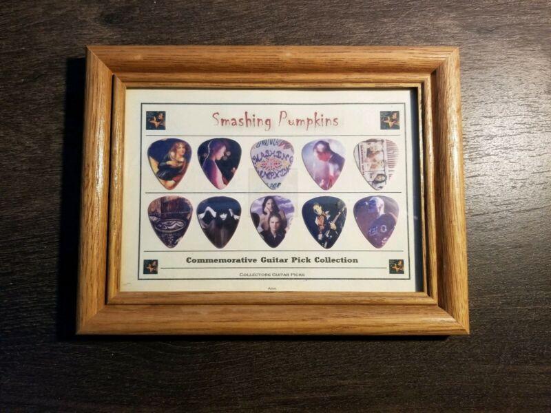 10 Smashing Pumpkins Commemorative Guitar Pick Collection Framed