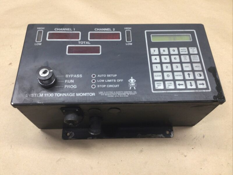 LINK ELECTRIC 1100-2CH SYSTEM 1100 TONNAGE MONITOR (NO KEY) #52A77PR2