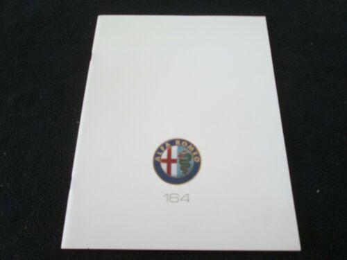 1990 1991 Alfa Romeo 164 Sedan Brochure 164S S 164L L US Sales Catalog