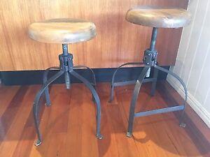 Pair of solid industrial stools Windsor Brisbane North East Preview