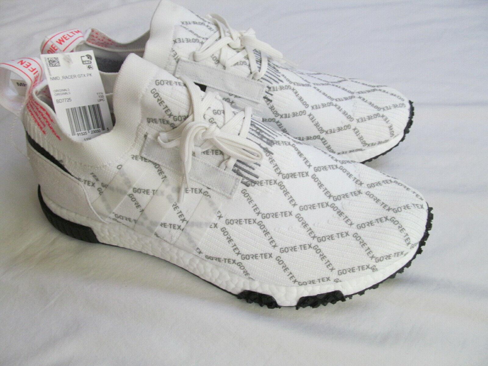 Adidas NMD Racer GTX Gore Tex BD7725  man white  shoes sz  1