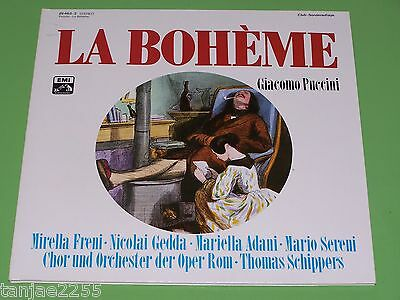 Puccini - Schippers Freni Gedda Adani Sereni - La Boheme - NM EMI Club 2 LP