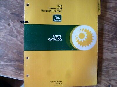John Deere 208 Lawn Garden Tractor Parts Catalog Manual Book Original Pc-1617