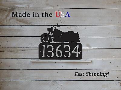 Motorcycle House Number Plaque, Decorative Address Sign, Biker Decor  HN1185 ()