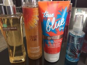 BATH AND BODY WORKS THREE PERFUMES AND ONE BODY WHIP LOTION