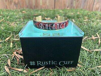Rustic Cuff .5 Balance Art Deco Cuff Bracelet