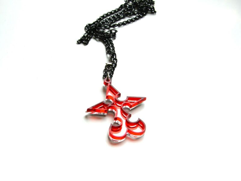 Kingdom Hearts NOBODY Red Acrylic Pendant Necklace