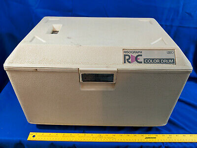 Riso Risograph Drum Case Black Handle Rc 61408362 Vtg C Ra Color Used 2