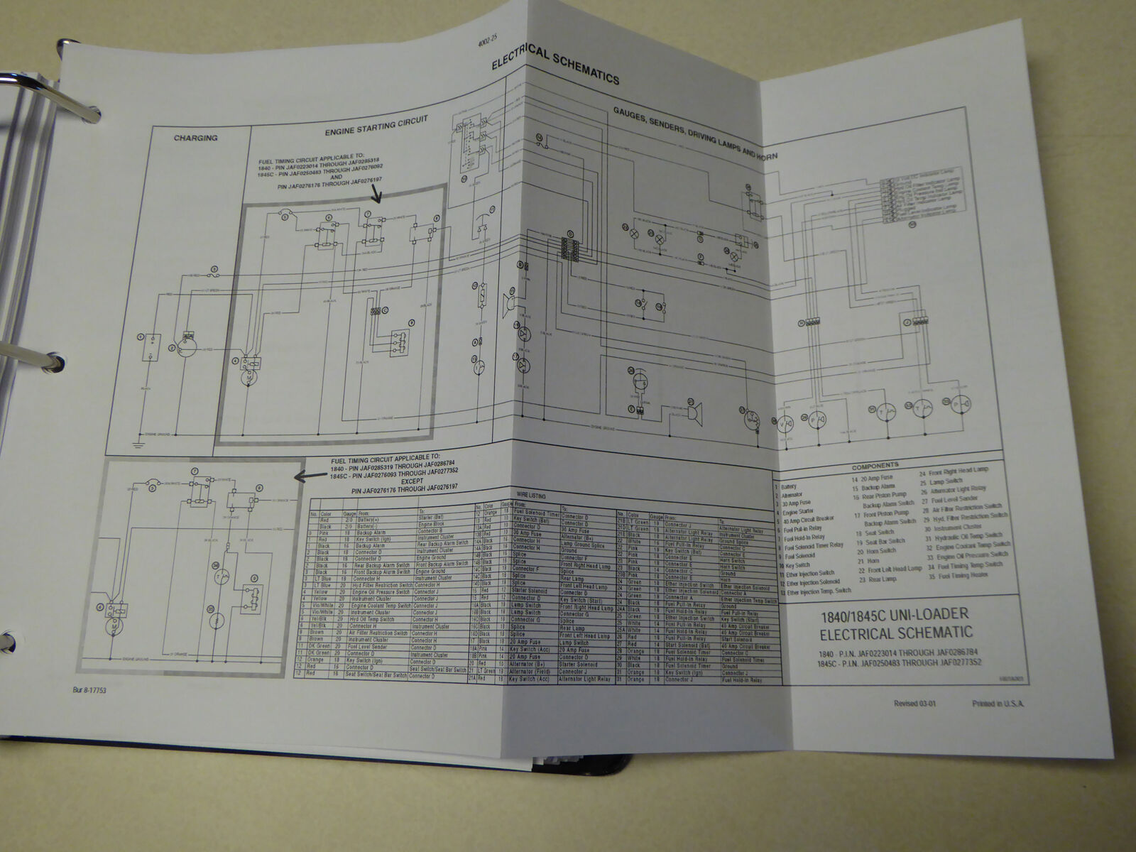 case 1845c electrical diagram case image wiring case 1845c uni loader skid steer service manual repair shop book on case 1845c electrical diagram
