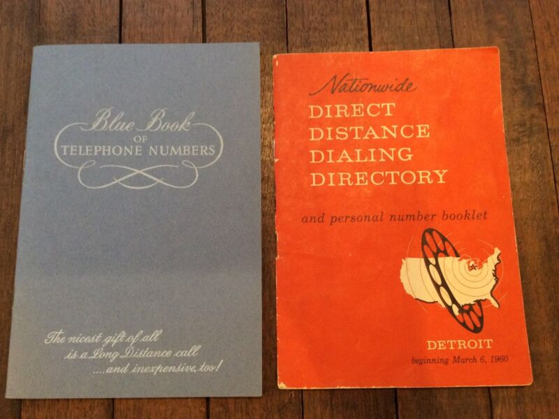 Vintage Blue Book Telephone Numbers Michigan Bell Telephone & 1960 Detroit book