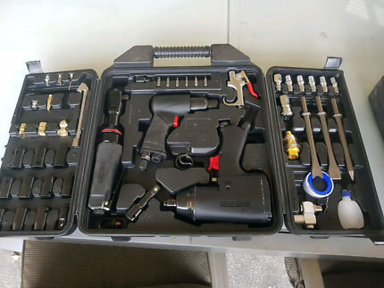 Air tools in carry case