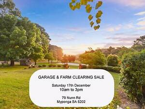 Garage Sale / Farm Clearing Sale - 17th December Myponga Yankalilla Area Preview