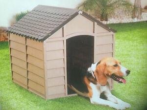 KENNEL STRONG DURABLE PLASTIC SMALL MEDIUM DOG INDOOR OUTDOOR GARDEN SHELTER
