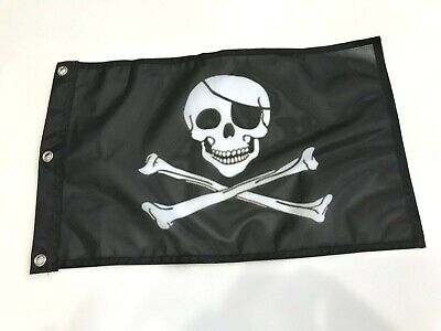 Pirate Jolly Roger Flag - 12x18
