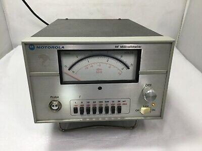 Motorola Rf Millivoltmeter Model S1339a With Power Cord