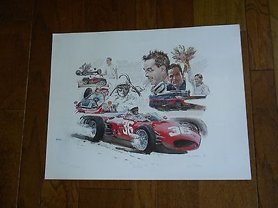Mint Condition Ken Dallison Print signed by Phil Hill New Ltd Ed