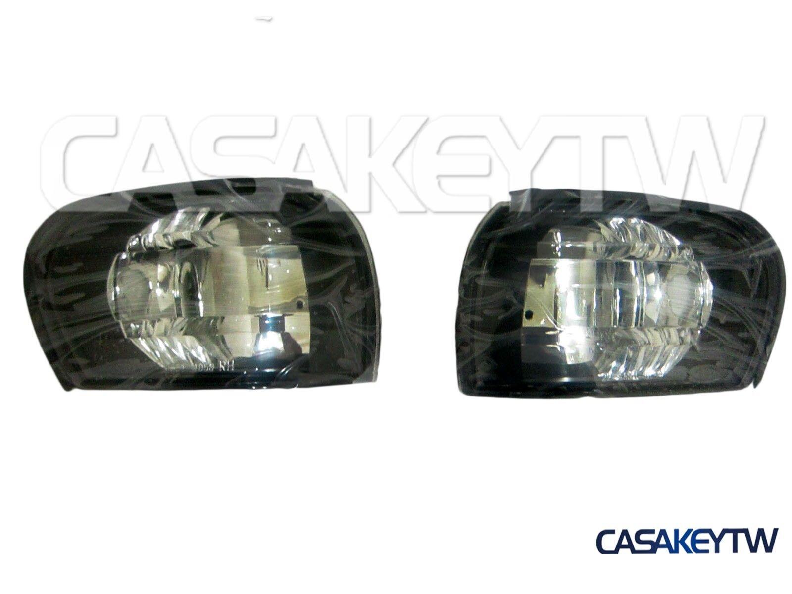 New Crystal Black Corner Lights Lamps 1995-2000 E-MARK Subaru IMPREZA GC8 CC8B