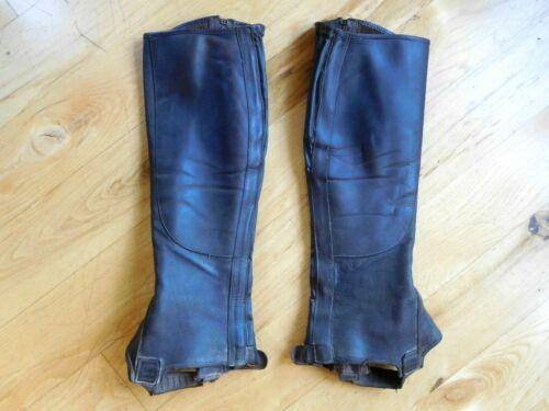 F.lli Fabbri Half Chaps Brown Leather Medium $350 (CH43)