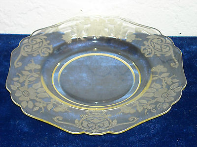 Cambridge Apple Blossom Bread and Butter Plate  Yellow