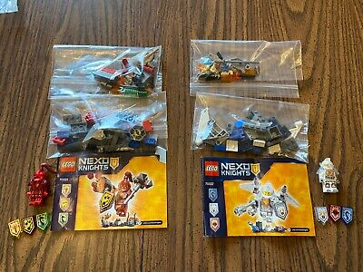 Lego Nexo Knights Ultimate Macy 70331 and Ultimate Lance 70337 Complete