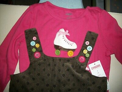 NWT Gymboree~~Lots Of Dots~~Brown Jumper Dress & Pink Top~~Size 6