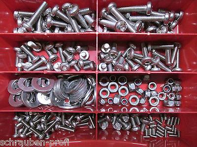 240 Edelstahl  Innensechskant Schrauben Din 912 Starter Set M4 Rostfreier Stahl