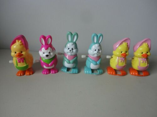 6 Easter Bunny & Chick Toys