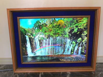 3D Artistic Waterfall Moving Image in Beautifully Framed Housing